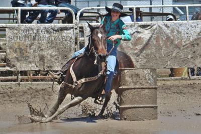 Sloppy, wet conditions slow times down at Idaho State Rodeo