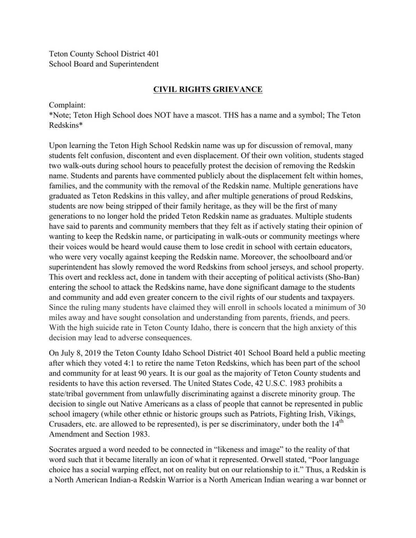 Greivance Complaint.pdf