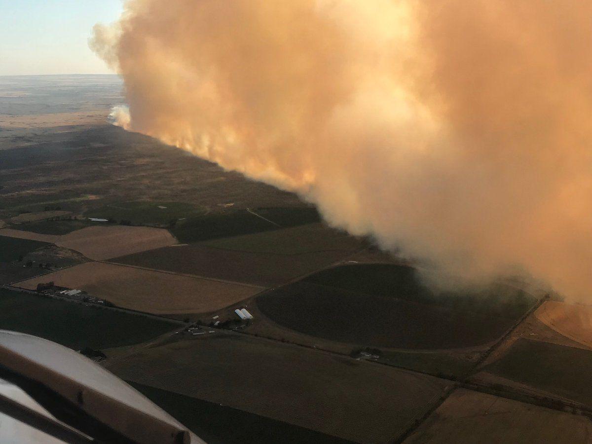 Deseret Ride Fire destroys 1,200 acres near Menan
