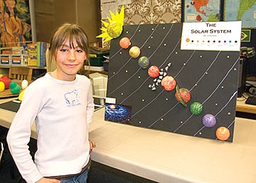 Fourth graders build solar system models | News ...