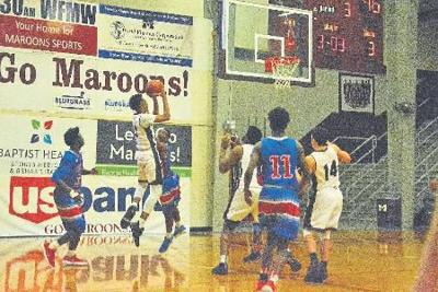 Maroons run out of gas in physical game against Colonels