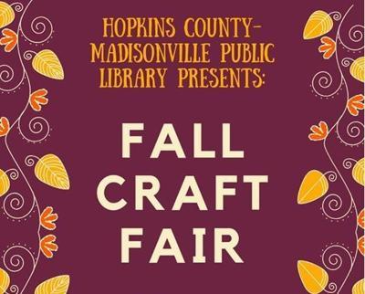 Library hosting Craft Fair Nov. 1-2