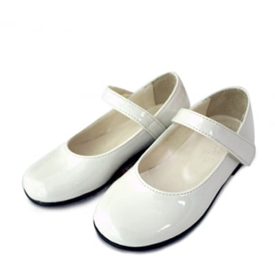 Classic White Patent Leather Shoes
