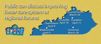 Public invited to give input on state foster care system at regional forums March 28-April 18