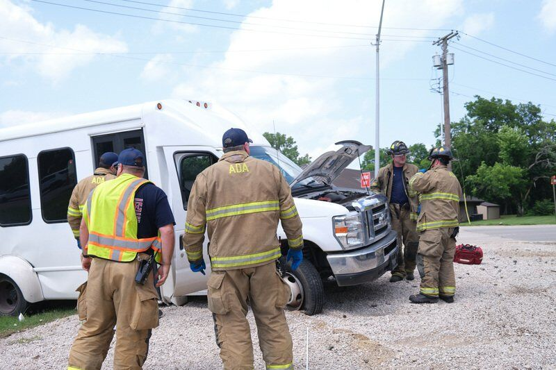 One injured when a train collided with a vehicle at the Crazy Corner intersection