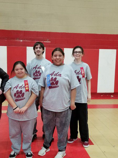 Special Olympics students play ball in Sulphur