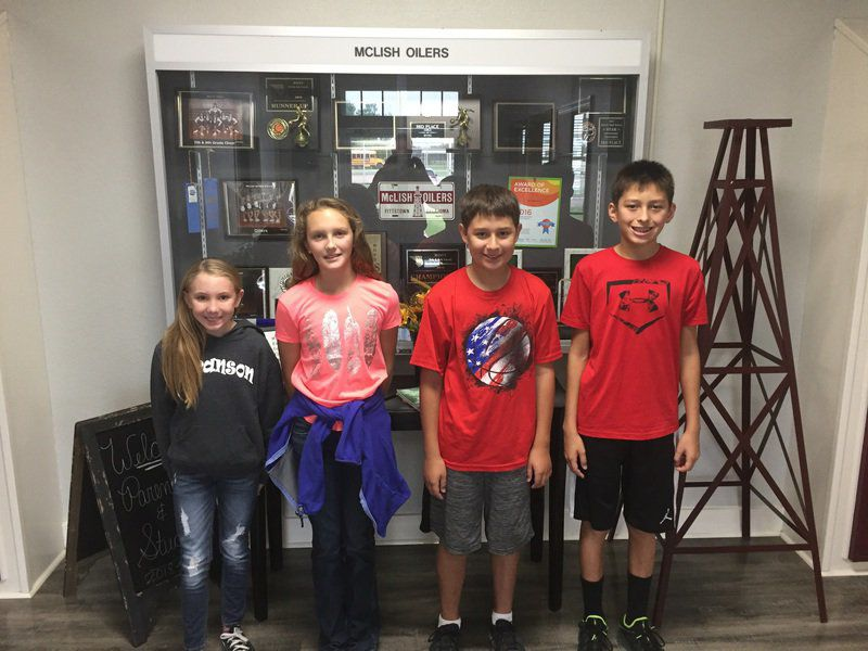 McLish Middle School Students of the month
