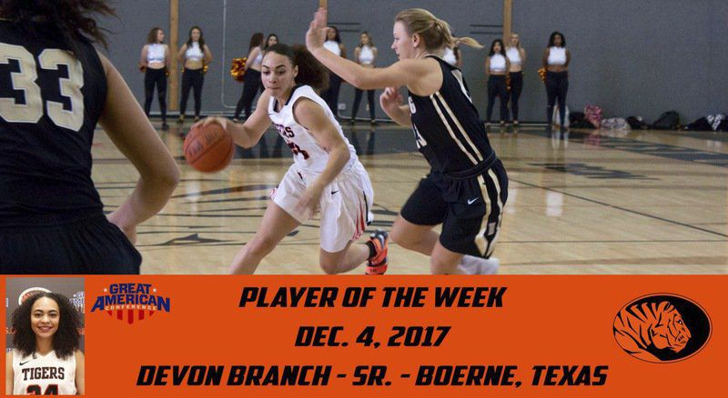 East Central's Branch nabs Great American Conference weekly honor