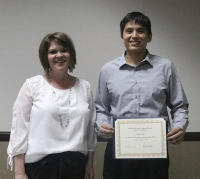Bohan receives math scholarship