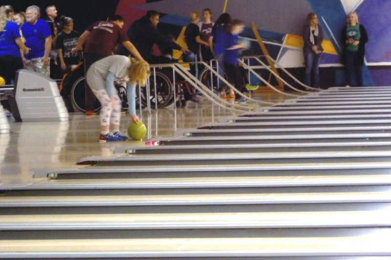 Ada Junior High Special Olympians gather for fun, fitness and bowling