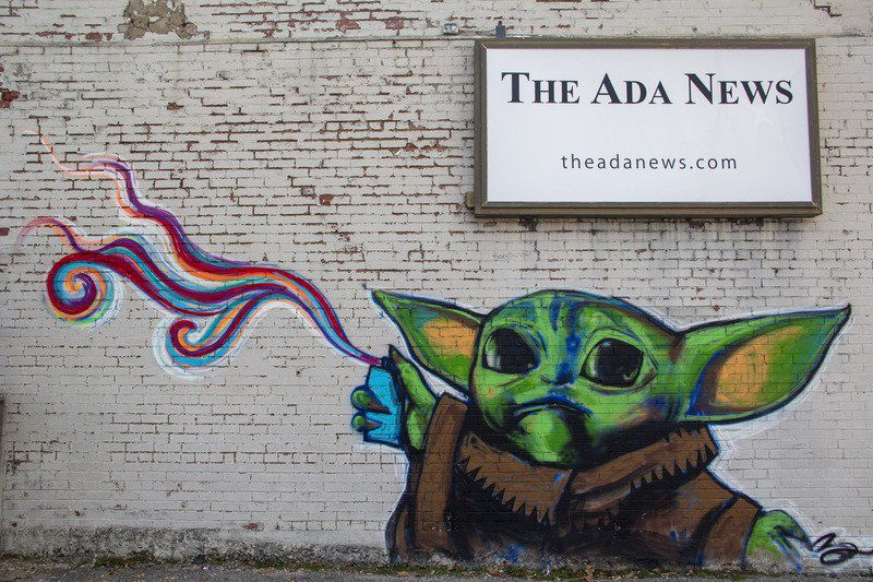 Brent Greenwood conjures 'Baby Yoda' to promote young Chickasaw artists