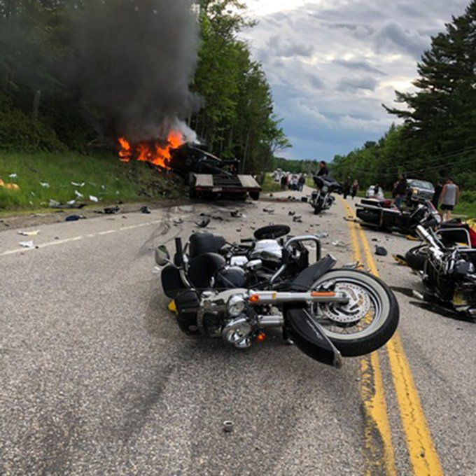 Deadly N.H. Crash Scene