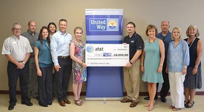 AT&T donates $10,000 to Ada United Way