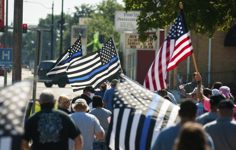'Back the Blue' march held Saturday in downtown Ada
