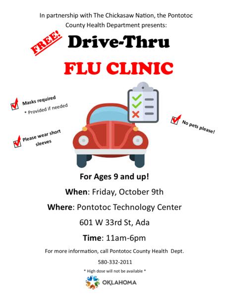 Drive-thru flu clinic coming to Ada