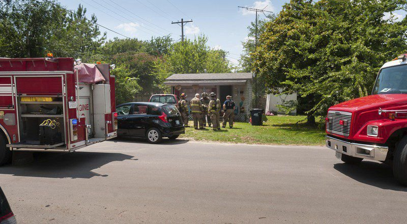 Police respond to fire, man with knife call Tuesday