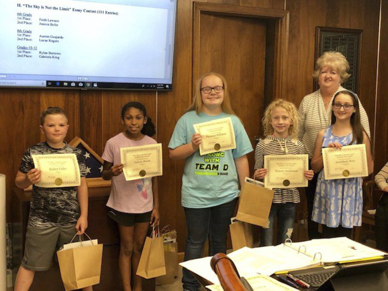 School board recognizes art, essay contest winners