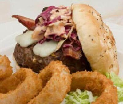 Black Mesa Bacon Cheese Burgers with Thunder Head Country Slaw