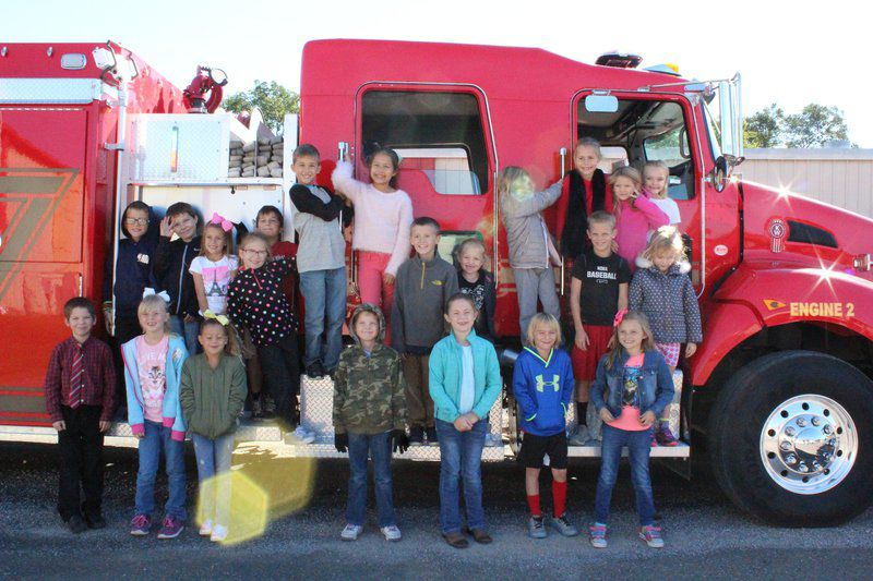 Stratford Fire Department visits elementary students