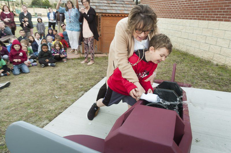 School christens new plane in literacy park