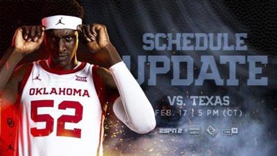 OU-Texas will tangle tonight due to inclement weather