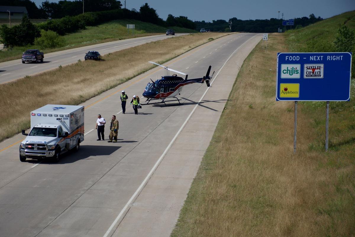 Mercy EMS, AirEvac Lifeteam respond to US377 incident