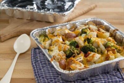 Chicken, broccoli & potato bake