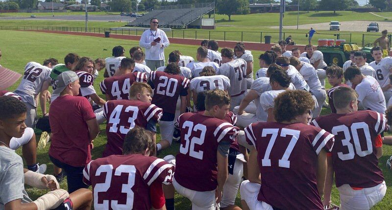 Ada wraps up padded practice with intense drill