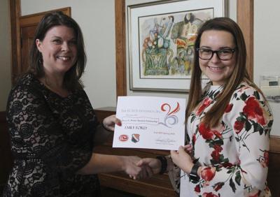 Ford recipient of Oscar L. Parker Scholarship at ECU