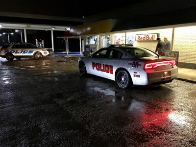 Sooner Stop armed robbery suspect at-large