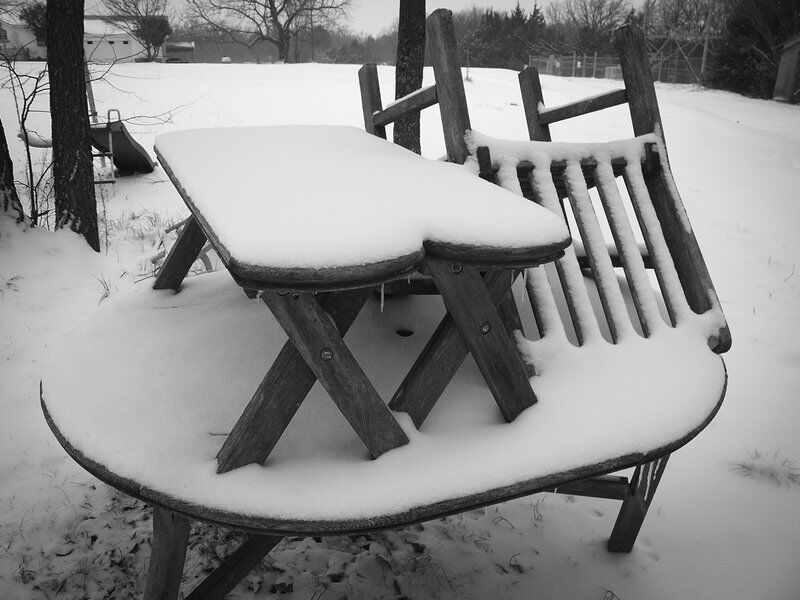 Winter storm blankets Ada; more on the way