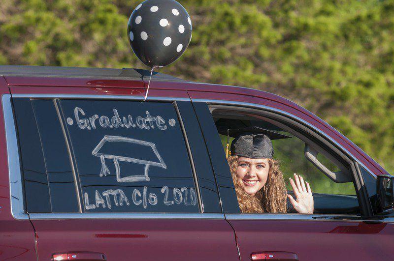Latta High holds drive-thru graduation