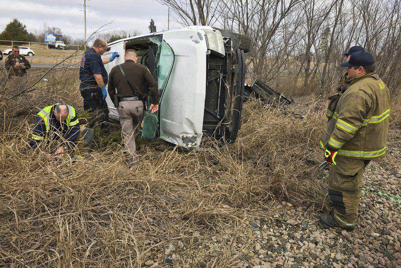 Rollover crash injures one