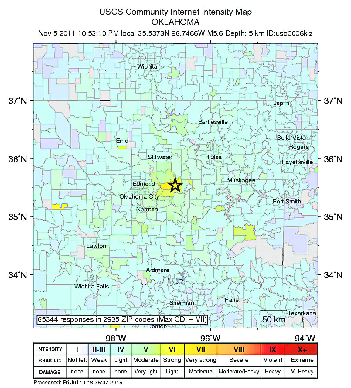 Largest Earthquake in Oklahoma history