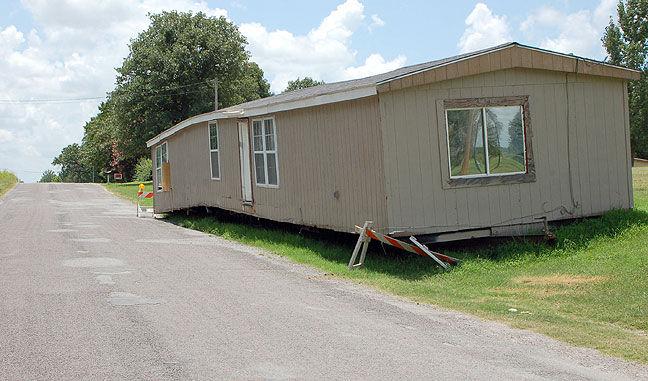 Stranded mobile home