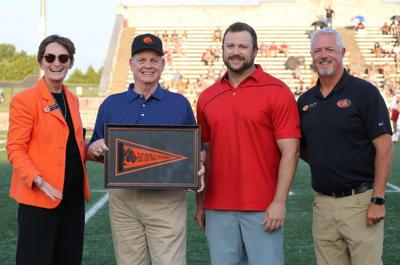Crabtree family honored for ECU scoreboard contribution