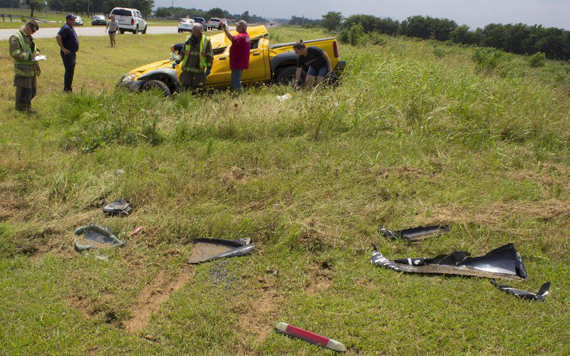 Driver survives Wednesday rollover