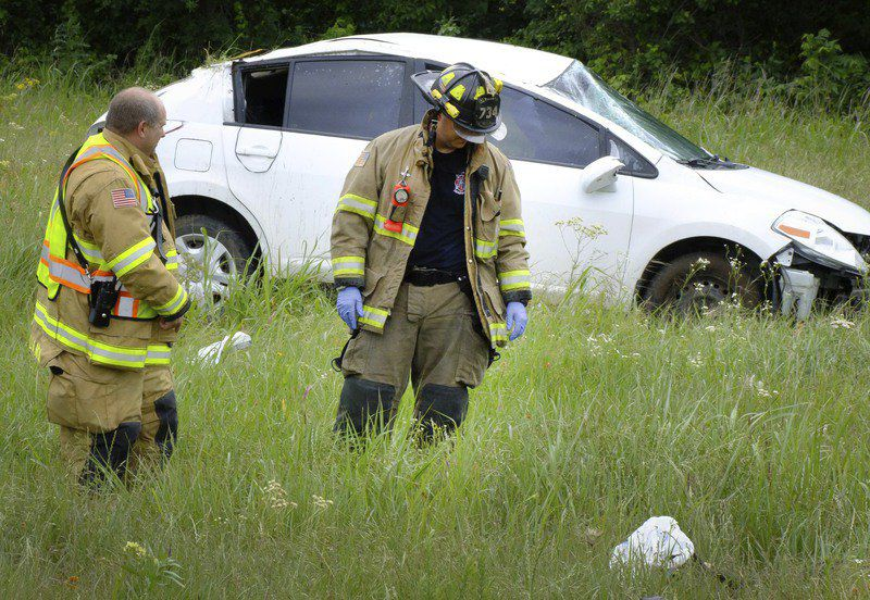 One injured in single-vehicle rollover accident