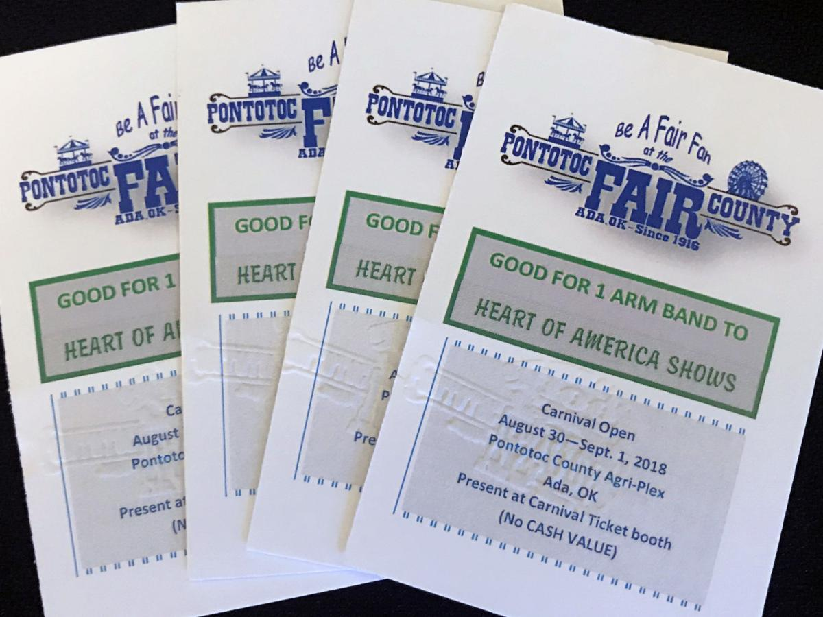 Pontotoc County Free Fair armband giveaway
