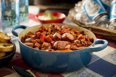 Beer and brats chili