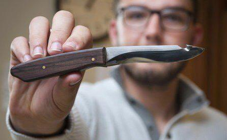 Bladesmith Logan Morris gives back to the community