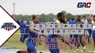 ECU men's track team voted sixth in GAC