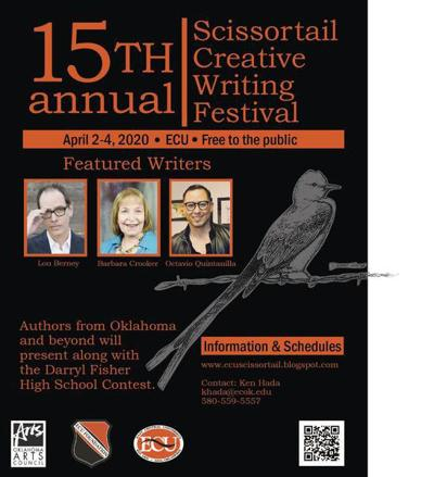 Scissortail Creative Writing Festival set for April 2-4, 2020