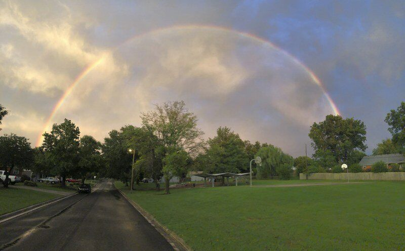Thursday storms produce double rainbows across the Ada sky