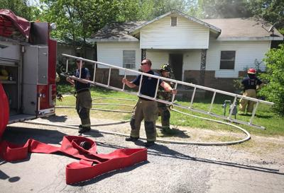 Fire damages house
