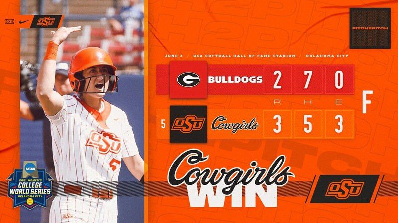 Factor home run propels Cowgirls to WCWS win over Georgia