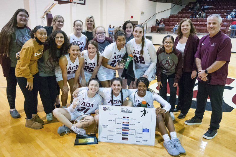 Ada girls end big week with ECOC championship
