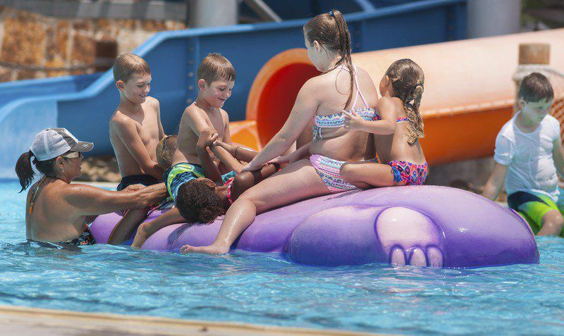 Kids enjoy the last few weeks of summer at Wintersmith Aquatic Center