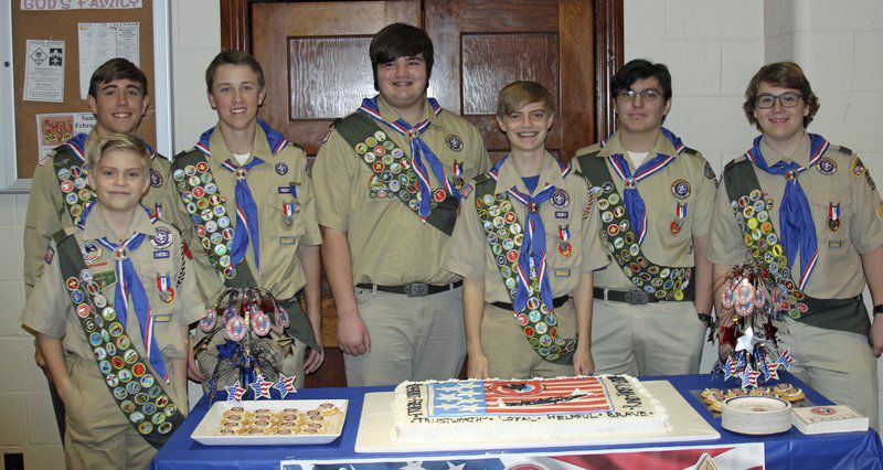 Troop 13 hatches seven new Eagles