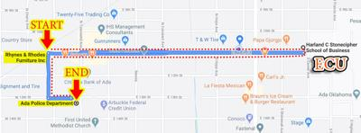 Planned Black Lives Matter protest route